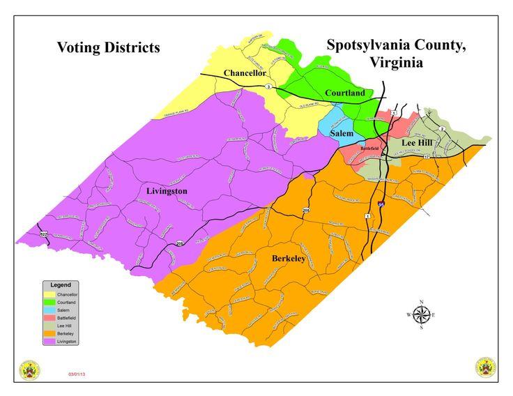 Spotsylvania Virginia Voting Districts