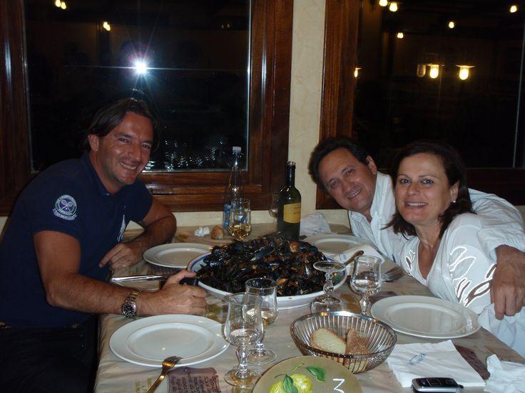 Antonio and his parents in Mazara del Vallo