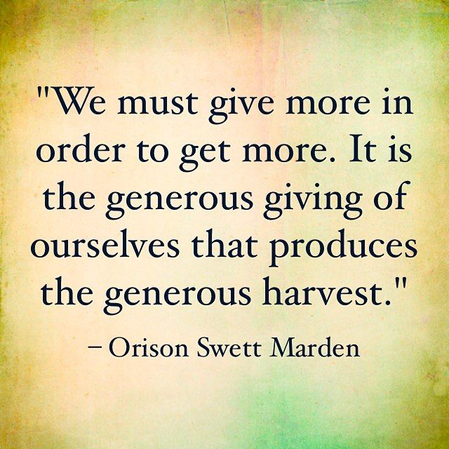 How do you produce a generous harvest?