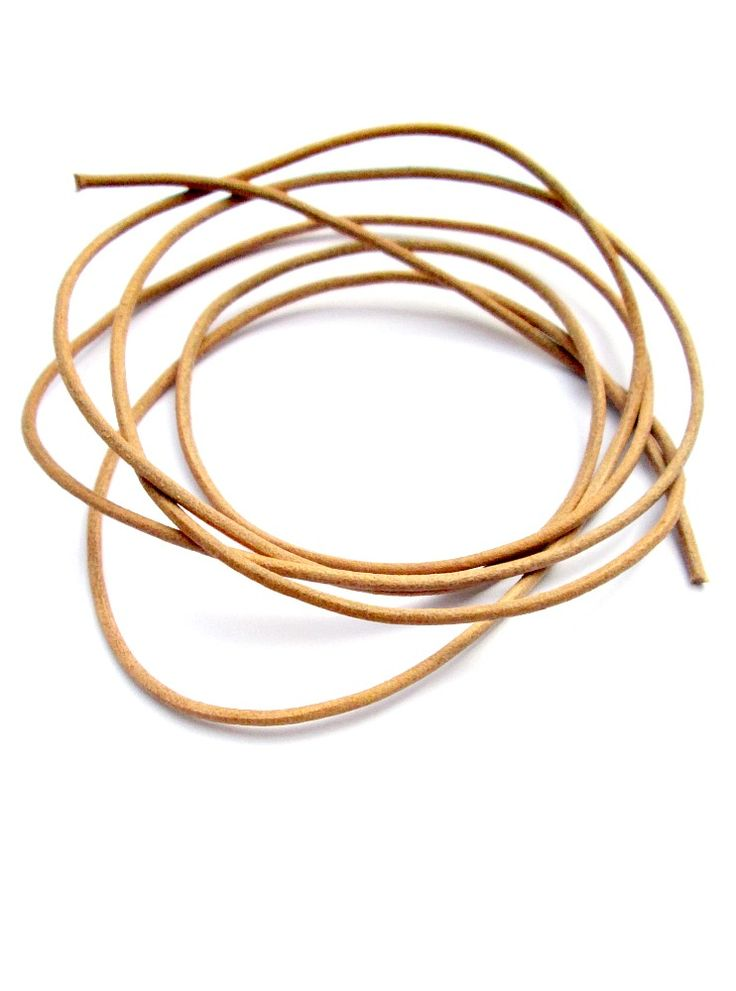 Greek leather round cord of excellent quality in natural, undyed finish. Thickness 1.5mm / 0.06""