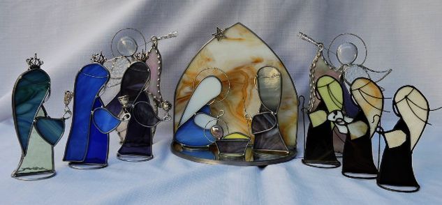Nativity scene with 12 pieces