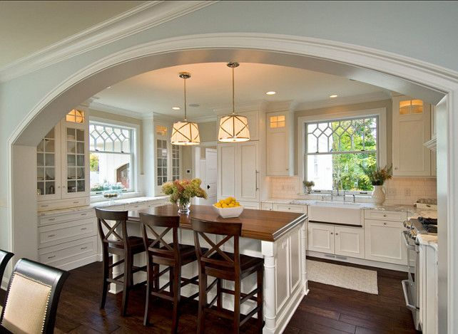 White Kitchen Ideas and Kitchen Design Ideas #WhiteKitchen
