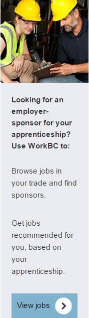 BC - help finding an employer-sponsor for your apprenticeship