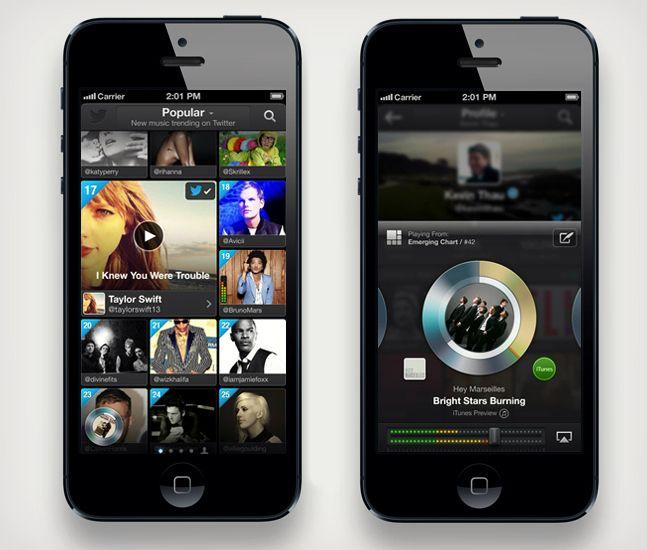 Twitter #Music App | Cool Material