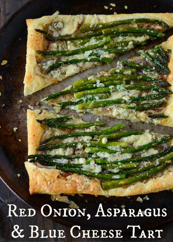 Red Onion, Asparagus & Blue Cheese Tart
