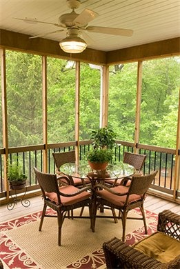 Darling screened porch.