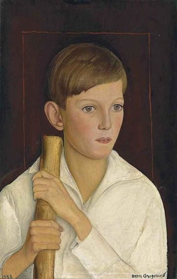 Boris Grigoriev - Portrait of Patricio Edwards,...