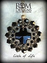 Circle of Life in Swarovski crystals of Jet Black. AUD $120 Join us on Facebook  https://www.facebook.com/romdesignsjewellery or our website https://www.romdesigns.com SKU215COL.jpg