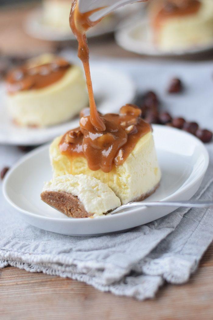 New York Cheesecake mit Haselnuss Karamell #cheesecake #nyccheesecake #karamell…