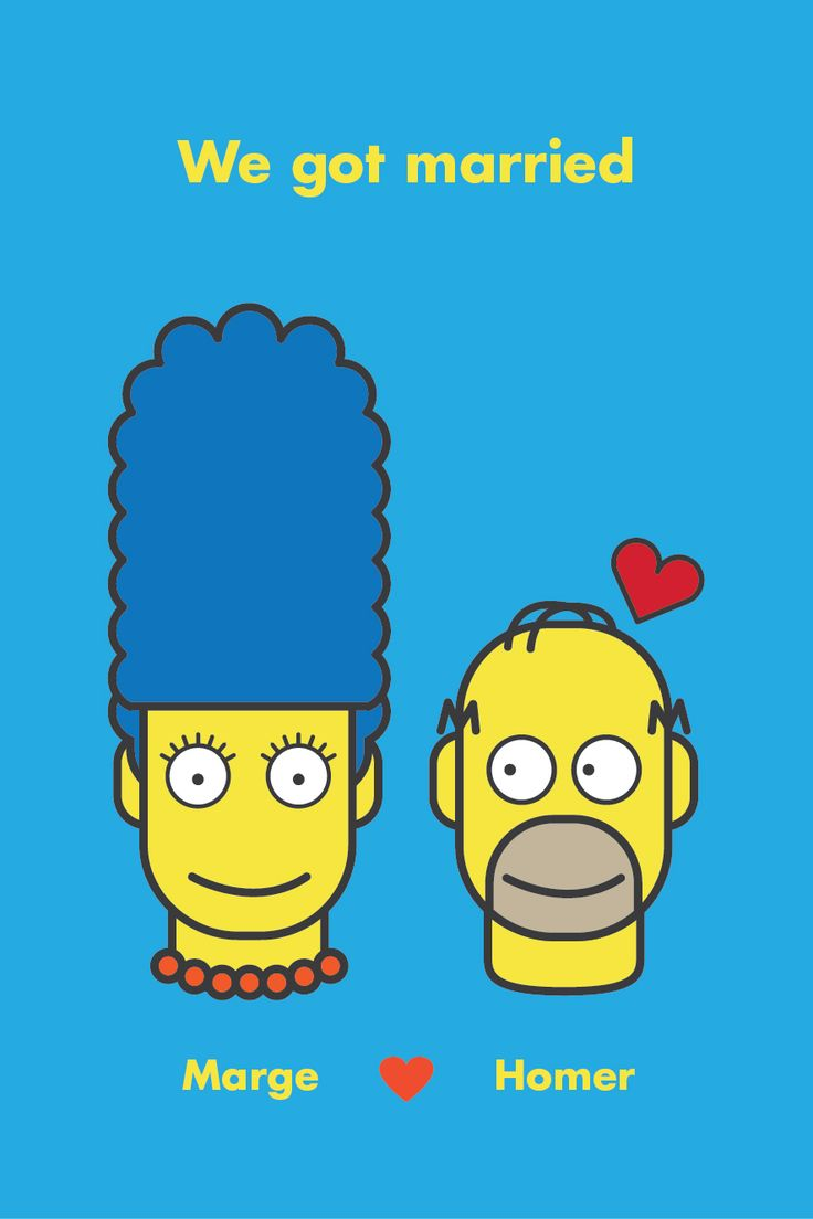 we got married #simpsons #character #illustration