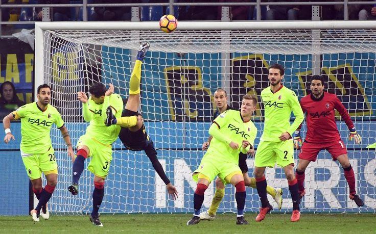 Inter-Bologna, gol capolavoro di Murillo in sforbiciata