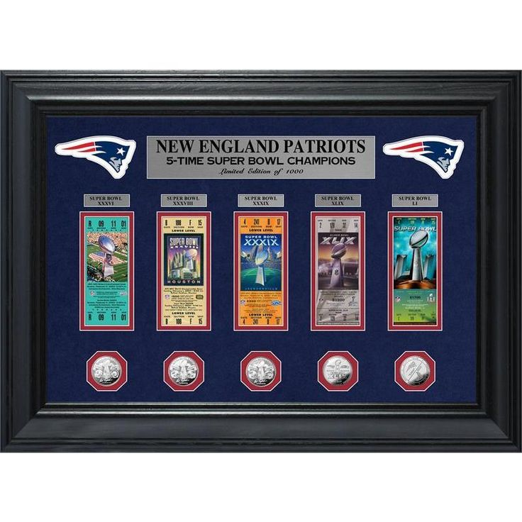 Highland Mint New England Patriots 5-Time Super Bowl Champions Deluxe Coin & Ticket Collection