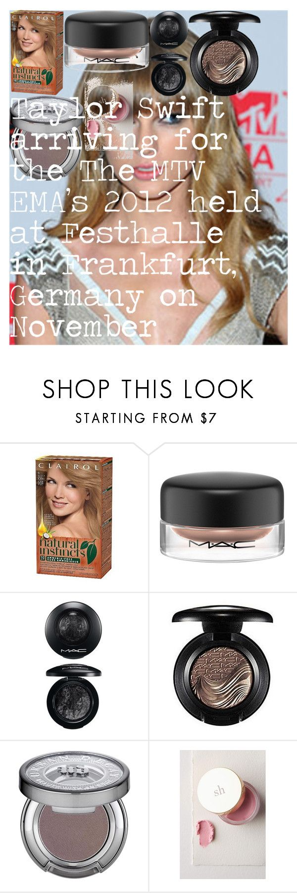"""""""Taylor Swift arriving for the The MTV EMA's 2012 held at Festhalle in Frankfurt, Germany on November 11, 2012."""" by oroartye-1 on Polyvore featuring beauty, MAC Cosmetics, Urban Decay and Sara Happ"""