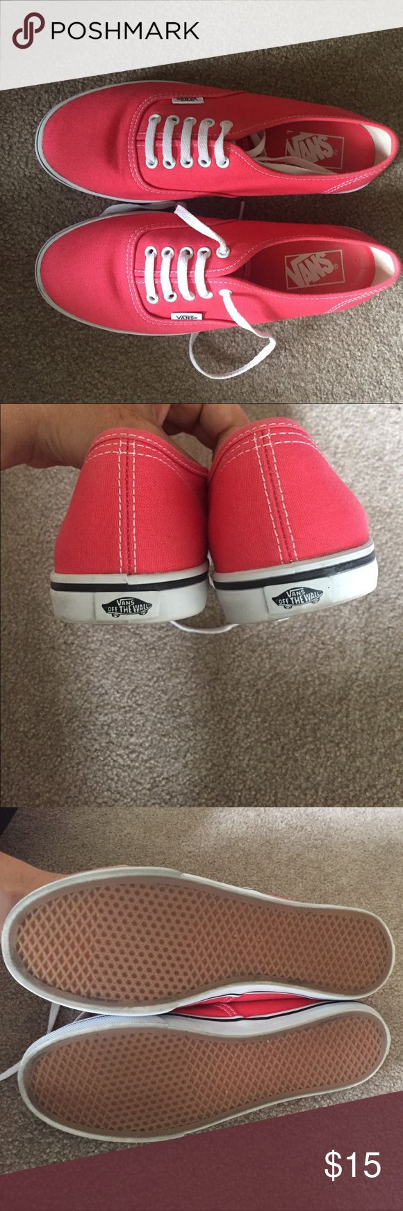 Coral Vans Coral Vans, only worn once! Vans Shoes Sneakers