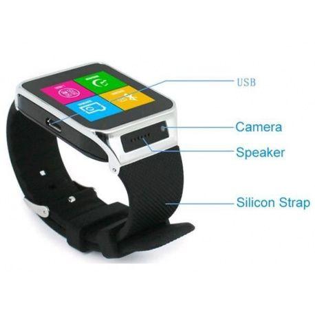 S29 Smart Phone Watch Referentie:  Op voorraad Staat:  Nieuw product Smart Phone Watch, S29 smart watch, handsfree bellen, interne Sim kaart, compatible met iphone en android, berichten lezen en verzenden, wekker, agenda, 0,3 mp camera, mediaspeler, opslag, siliconen band