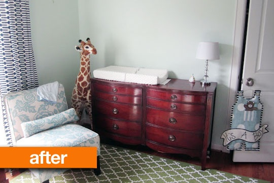 Before & After: Guest Bedroom to Beautiful Nursery Life Behind the Ivy | Apartment Therapy, hmm