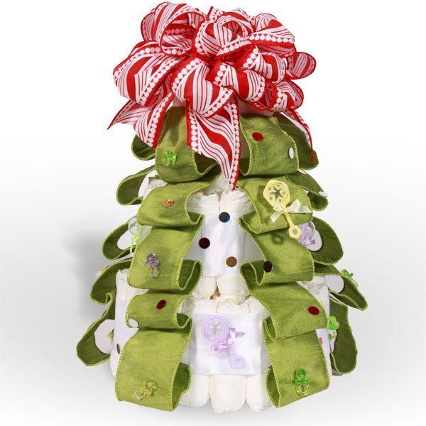 Christmas Tree Diaper Cake