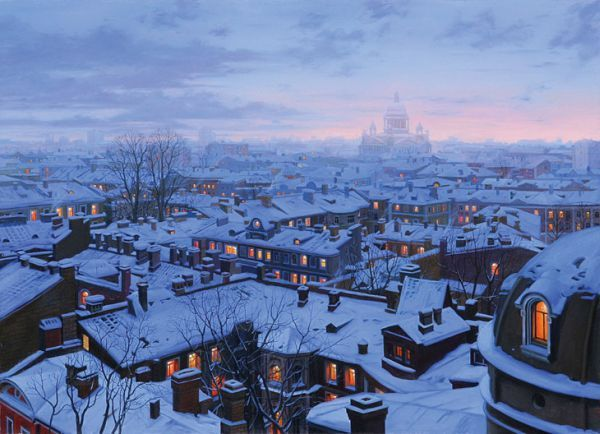An Evening Journey by Evgeny Lushpin