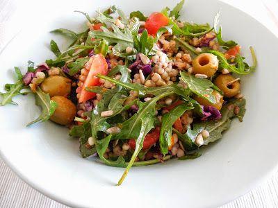 Mis recetas Bio: Ensalada variada de trigo sarraceno.