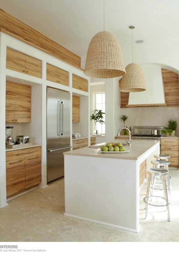 natural wood and white kitchen   http://www.jeanallsopp.com/