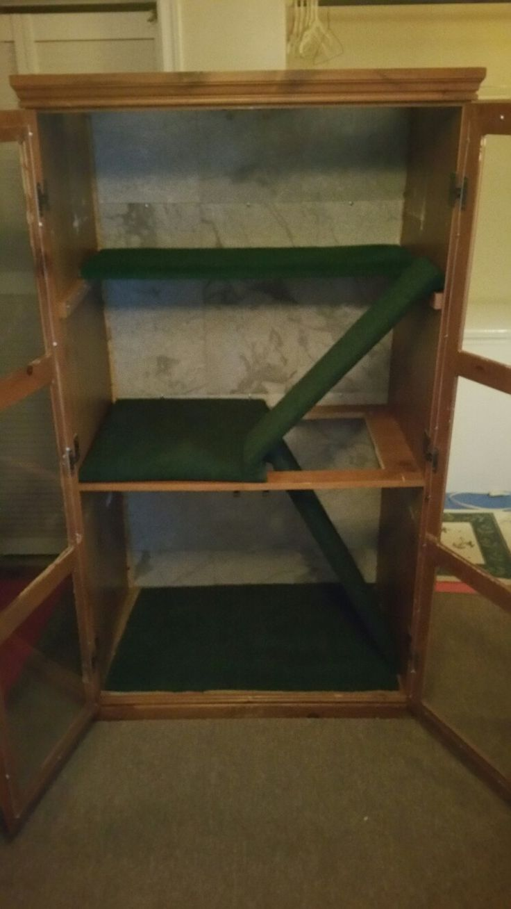 Another pic of used furniture turned into iguana cage.
