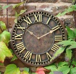 Amazing Antique Rust Effect Outdoor Garden Clock   31 Cm (12.2