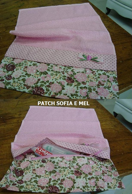 Toalhinha porta escova e creme dental by PATCH E CIA - Sofia e Mel, via Flickr