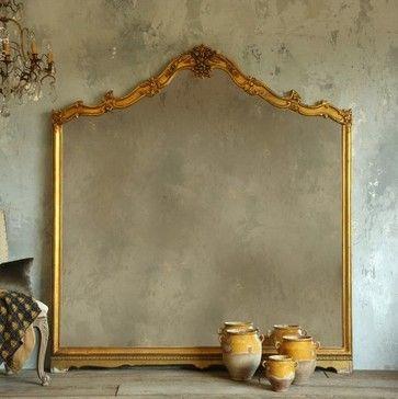 Vintage Floor Mirrors | Collection Vintage Floor Mirror in Gold Gilt - mediterranean - mirrors ...