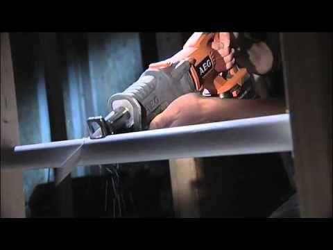AEG Powertools 18V Cordless Reciprocating Saw - BUS 18 - YouTube