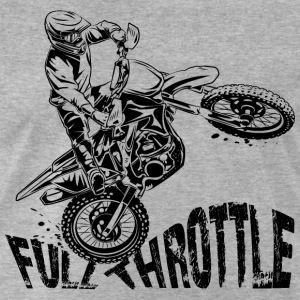 Off-Road Motocross Dirt Bike Full Throttle T-Shirts - Men's Premium T-Shirt