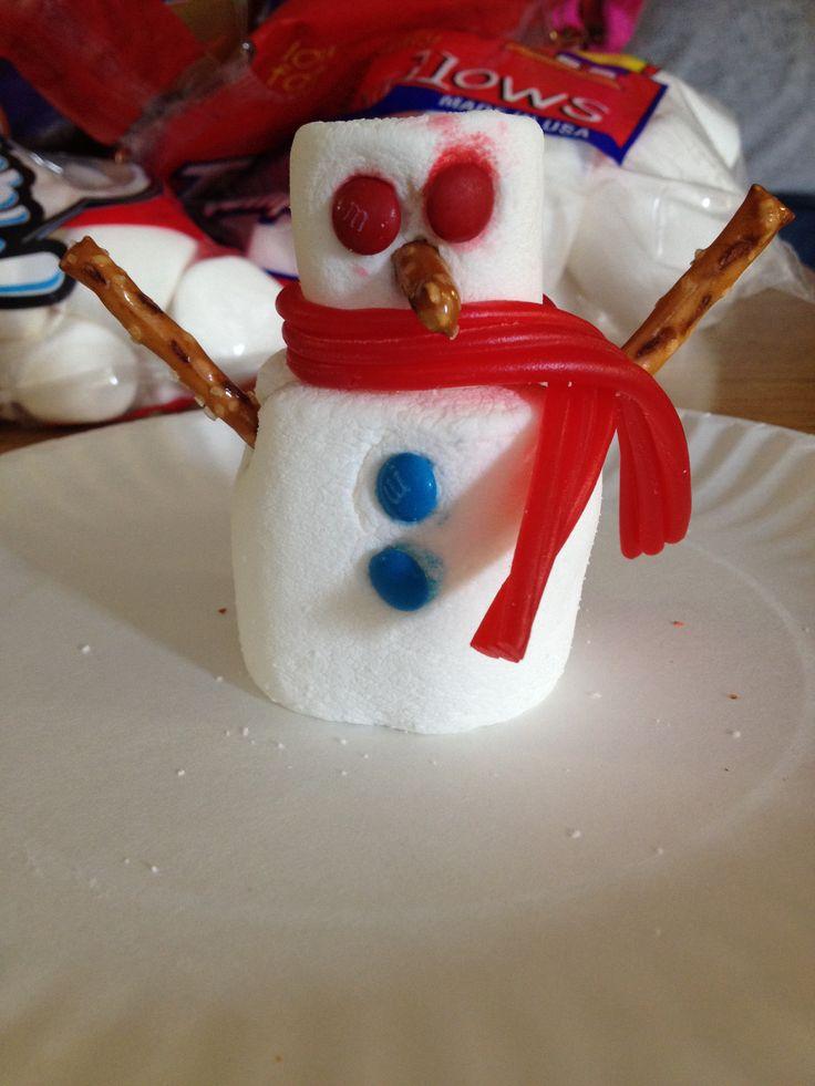 how to make marshmallow snowmen on a stick