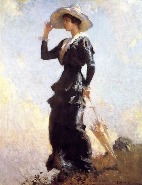 The Hill Top, 1914 - Frank W. Benson (American , 1862-1951):