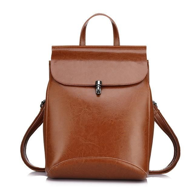 Vintage Leather Backpack For Ladies Treat Yourself Or A Loved One To This Gorgeous #LeatherBag! * Now At Over 50% Off *  Item Type: #Backpack, #Handbag,  #ShoulderBag Style #Fashion #Leather #BackpackWomens. #Bigstartrading