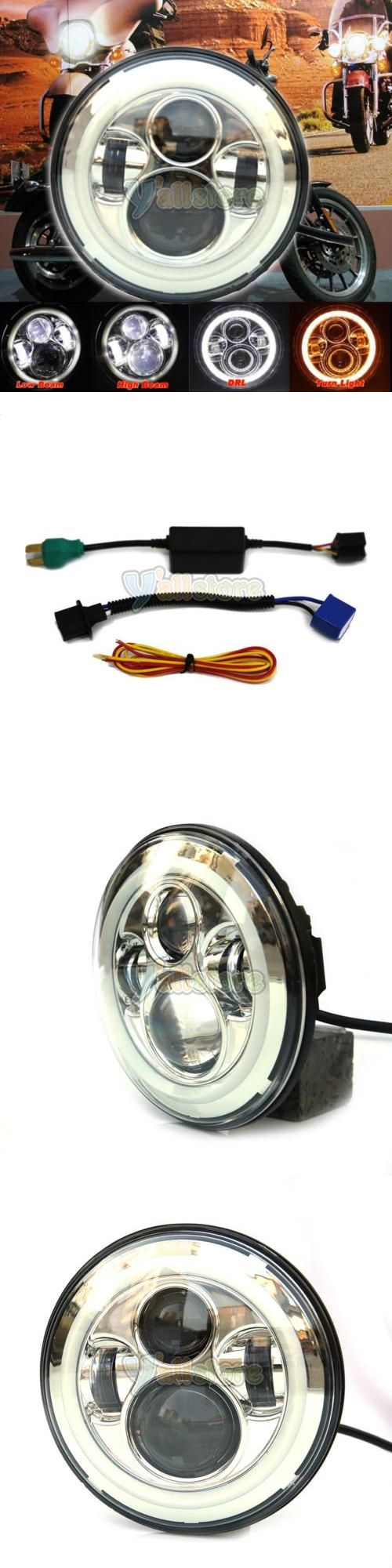 motorcycle parts: 7Inch Led Projector Daymaker Headlight For Harley Street Glide Softail Flhx F -> BUY IT NOW ONLY: $45.29 on eBay!