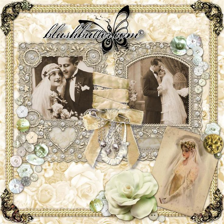 Victorian Wedding Richly Embellished Scrapbooking Pages