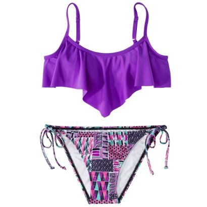 Juniors 2-Piece Swimsuit -Assorted Colors (seriously love the top!)