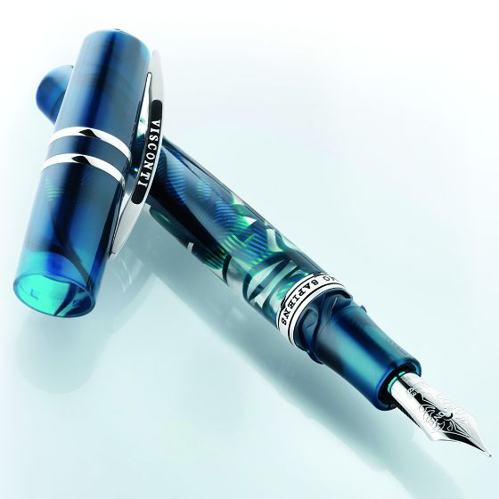 Visconti is best known for its luxury pens made in Florence, like this Homo Sapiens Crystal Still Life.