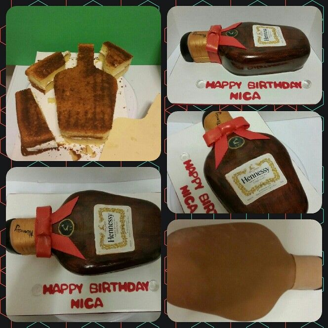 good morning ladies i present my first hennessy bottle cake i made this cake for nica. Black Bedroom Furniture Sets. Home Design Ideas