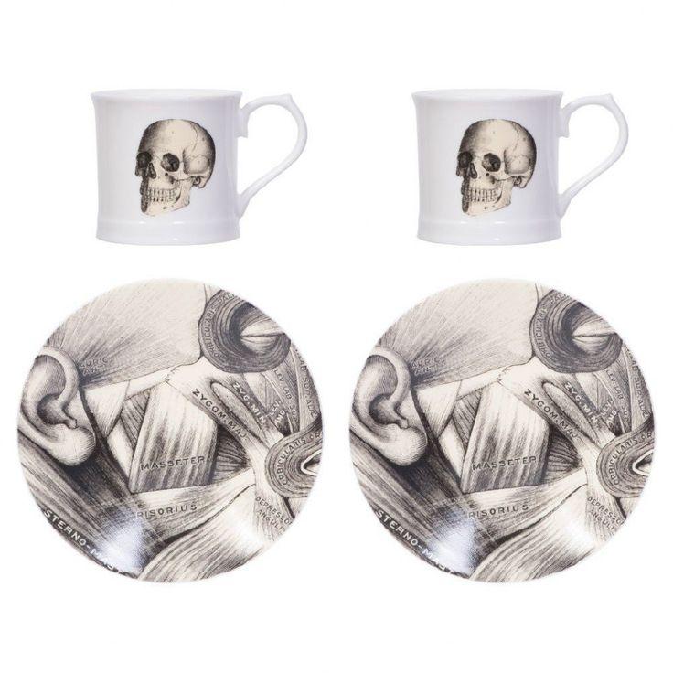 Magpie Curios skull espresso cups - set of 2