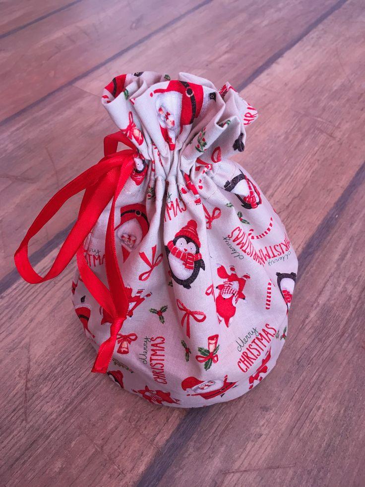 Mikulás, Karácsony, ajándékozni mindig öröm! Egyedi kézzel készült pamut ünnepi zsák