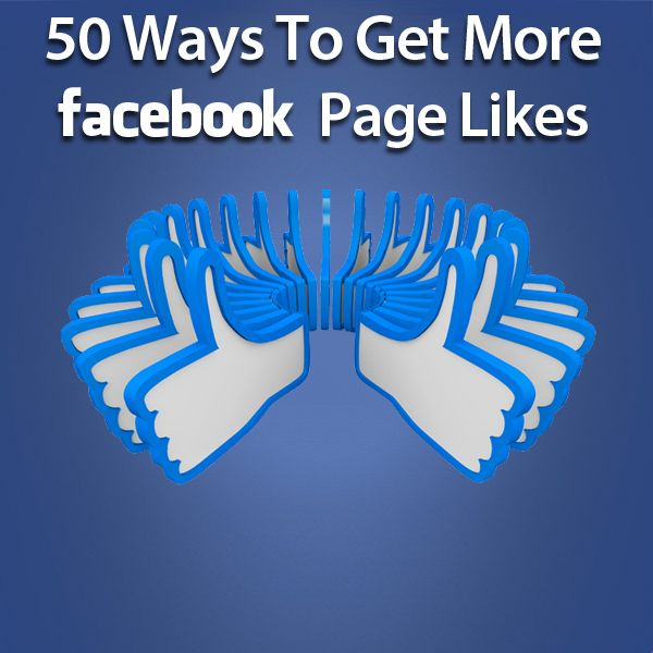 Discover 50 Great Ways To Get More Facebook Page Likes with the awesome tips in this post! CLICK this link and reveal these Facebook marketing secrets NOW.