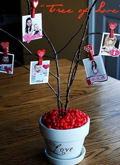 valentine love tree can hang vintage valentines from! X and Os