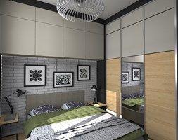 Mieszkanie z ludowym akcentem 60 m2 - Mała sypialnia małżeńska, styl eklektyczny - zdjęcie od CKkwadrat