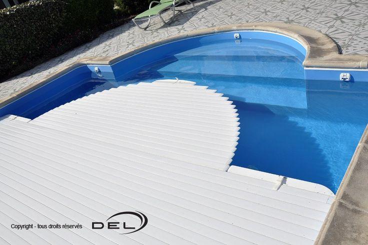 Жалюзи сматывающего устройства бассейна из ПВХ Белые ширина до 6,0 м Del Франция