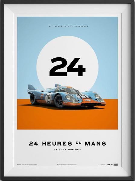 Gulf Porsche 917 - Le Mans 1971 Poster