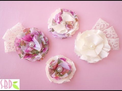 ▶ Tutorial Fiori di Stoffa - Fabric Flowers - YouTube