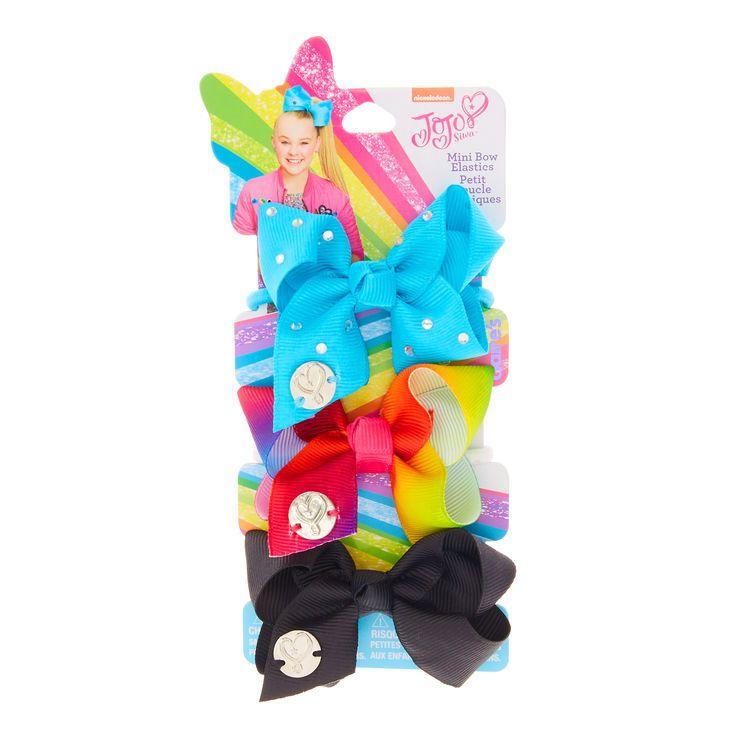 3 Pack JoJo Siwa Mini Bow Hair Ties