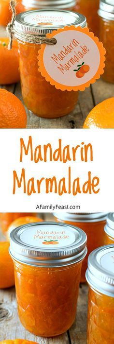 Mandarin Marmalade - Fresh mandarin oranges with a hint of lemon. This marmalade is fantastic! Includes a link to a free printable for labels or gift tags.                                                                                                                                                                                 More