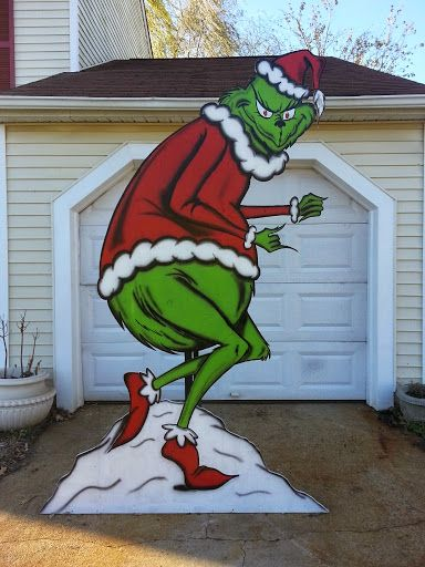 Grinch Stealing Christmas Lights Decoration