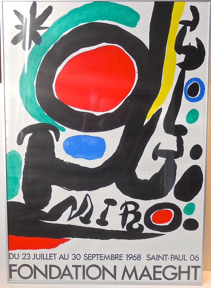#Miro #vintage #poster #FondationMaeght  http://retro-design.dk/butik/tremois-erotisk-vintage-plakat-1978/